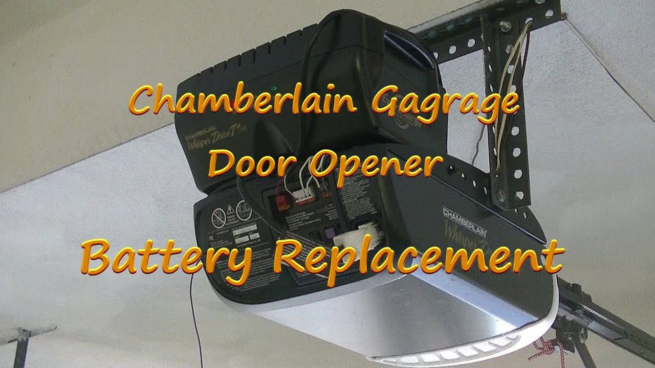 diy chamberlain garage door opener battery replacement youtube