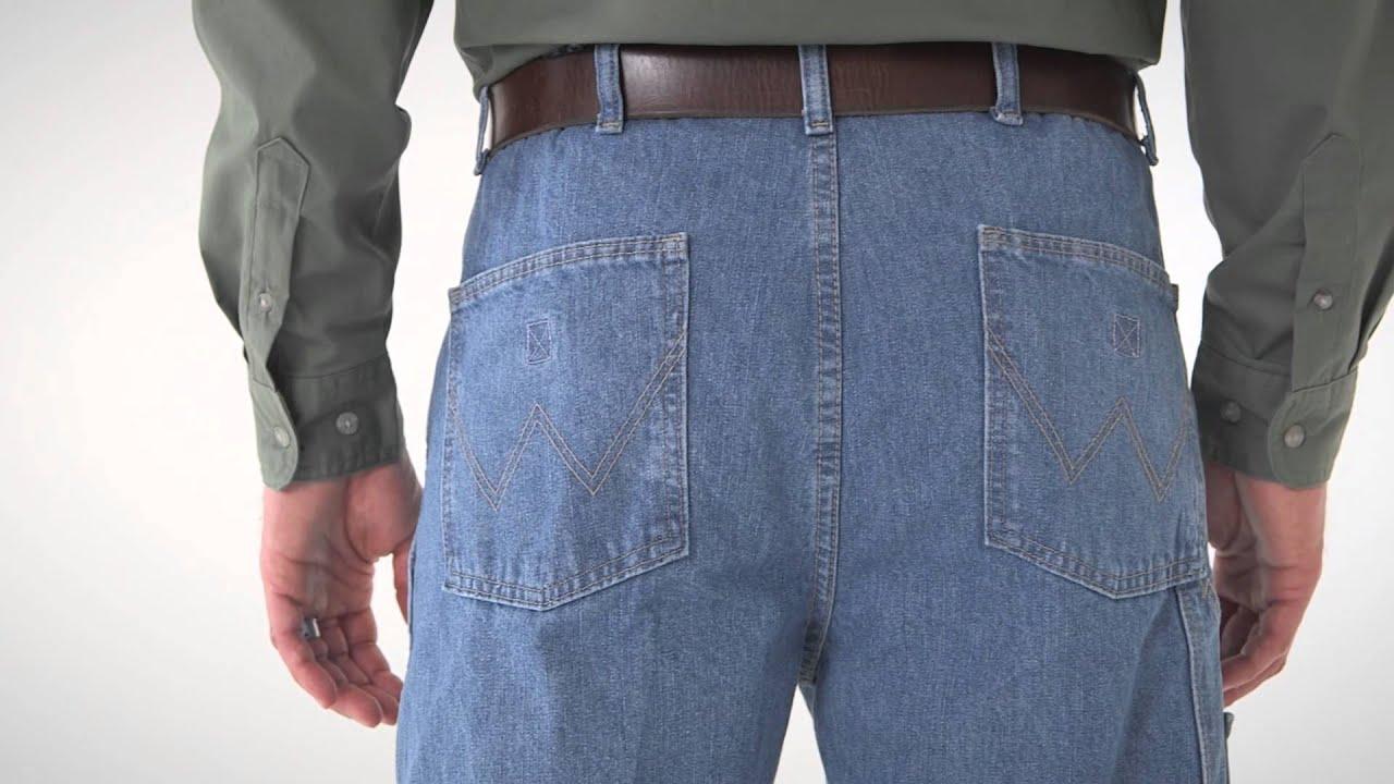 Wrangler Rugged Wear Men S Indigo Denim Angler Pants Youtube
