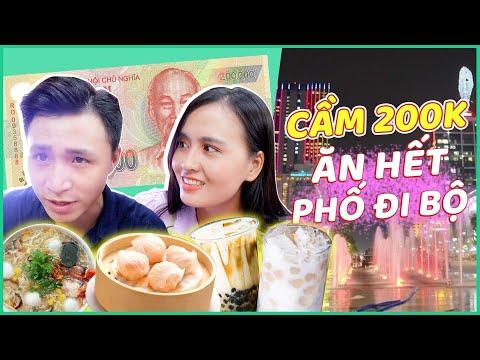 Cầm 200k đi ăn ở phố đi bộ Nguyễn Huệ 🙄 Súp cua, sữa chua trân châu , PL giá 15k.....Ăn no xĩu