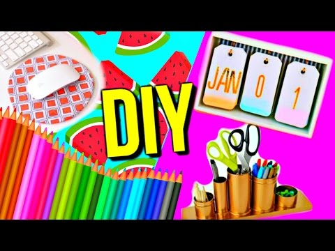 DIY School Supplies & Desk Organization | Courtney Lundquist