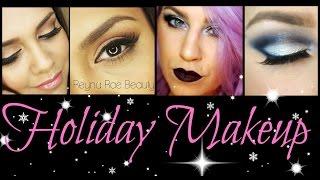 Holiday Glam Makeup: Glitter Cut Crease