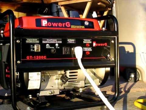powerg 1200 watt generator avi youtube rh youtube com