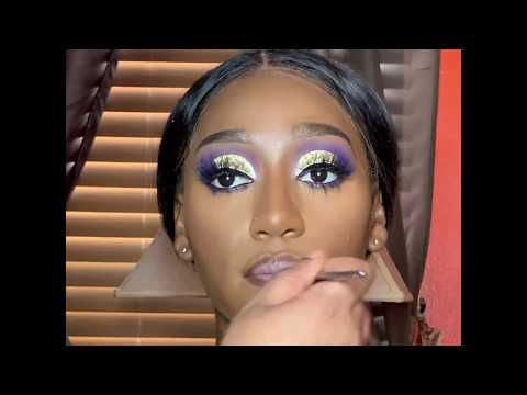 Glitter cut crease makeup tutorial thumbnail
