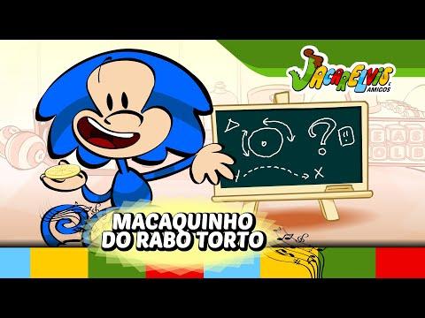 Macaquinho do Rabo Torto - Jacarelvis e Amigos (vol. 02): Será que o Mico-Tuco, o macaquinho brincalhão vai conseguir decidir se é bolacha ou biscoito?  Produtos do Jacarelvis em: http://jacarelvis.lojaintegrada.com.br/  DVDs e CDs:  http://www.somlivre.com/artista/jacarelvis.html  Livro infantil interativo: Google Play: https://goo.gl/zSSK1D AppStore: https://goo.gl/1uE3DV   Clipes para Android: http://goo.gl/HJo9Kv Clipes para Iphone e iPad: http://goo.gl/29T3fh  Músicas no iTunes: http://som.li/1wFR41W Clipes no iTunes: http://goo.gl/eexXuc Ouça na Deezer: http://som.li/1rrDtv4 Ouça no Spotify: http://goo.gl/72SftJ  Atividades Educativas do Jacarelvis em: http://www.jacarelvis.com.br/atividades-educativas-do-jacarelvis.htm Site do Jacarelvis: http://www.jacarelvis.com.br/ Facebook: https://www.facebook.com/Jacarelvis Canal no Youtube: http://www.youtube.com/user/Jacarelvis  Inscreva-se nos sorteios em: http://www.jacarelvis.com.br/sorteios/  Jacarelvis e Amigos ® - Todos os direitos reservados Realização e animação: Animar Estúdio / http://www.animarestudio.com.br  _________________________________________ CRÉDITOS:  - Música e letra, vocal - Tiago Saad - Back Vocal - Anselmo Henrique Carvalo  - Arranjado, contra baixo, guitarra - Roberto Yuzo Kobayashi  - Bateria - Victor Marcelus Cury