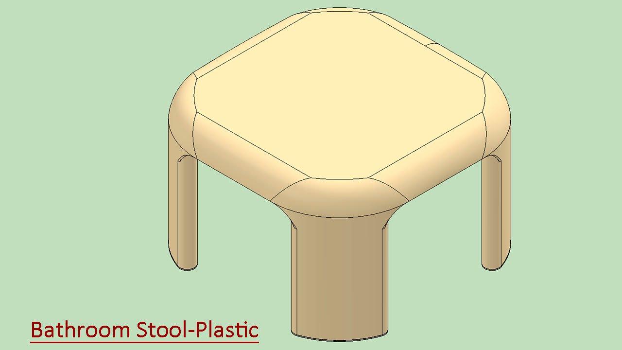 Bathroom Stool-Plastic (Video Tutorial) SolidWorks - YouTube