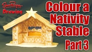 Make A Nativity Scene - Part 3 - Colour-in The Stable