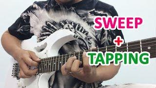 Kết hợp Quét dây và Tapping âm giai Am-C | học đàn guitar online | học solo guitar | học guitar điện