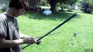 Homemade Bamboo Bow by Jordan - With a String Reel Attachment