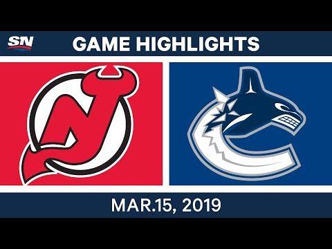 NHL Highlights | Devils vs Canucks – Mar 15, 2019
