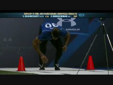 USC Taylor Mays 4.24 40 Yard Dash At NFL Combine