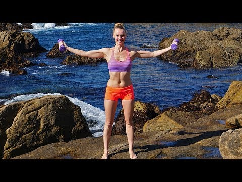 15 Minute Workout with Weights // Arms Back Core Legs Thighs