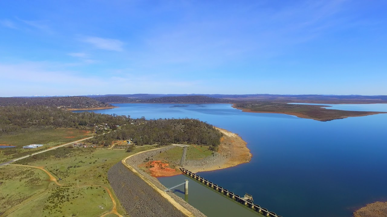 Miena Dam And The Great Lake Youtube