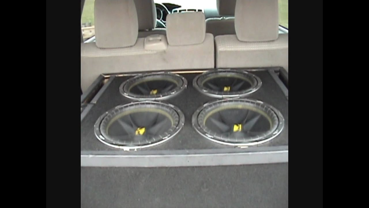 """Subwoofer Box Design For 12 Inch >> 4 12"""" kicker comp subs ported box - YouTube"""