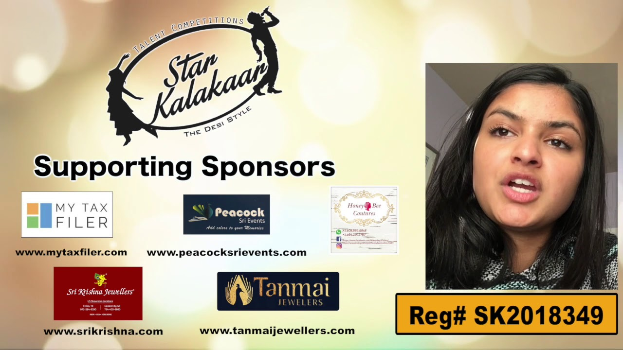 Participant Reg# SK2018-349 Introduction - US Star Kalakaar 2018 || DesiplazaTV