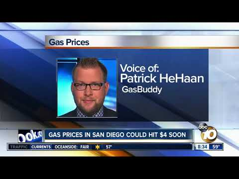 Gas prices in San Diego could soon hit $4