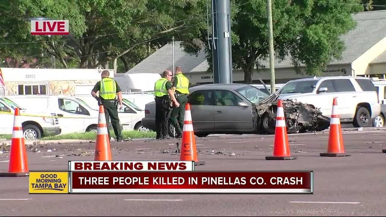 Triple fatality crash shuts down stretch of U S  19 in Palm