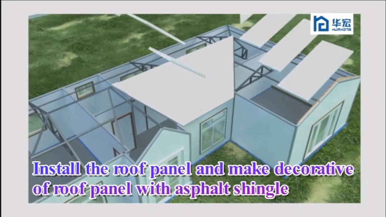 Eps Sandwich Panel House Youtube