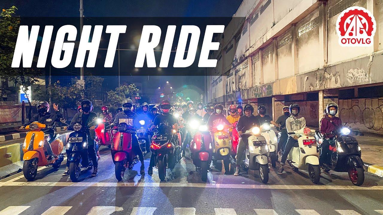 Night Ride Cari Angin Vespa Matic