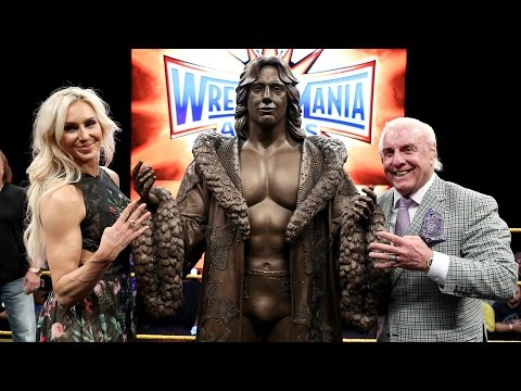 Charlotte Flair reacts to Ric Flair's statue reveal