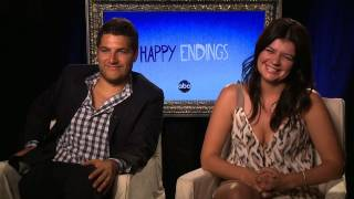 "Adam Pally and Casey Wilson Promise ""More Trainwrecks"" For Their Happy Endings Characters"