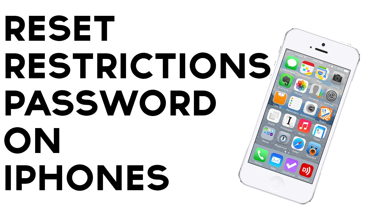 How To Reset Your Restrictions Password (this Will Erase Your Phone)