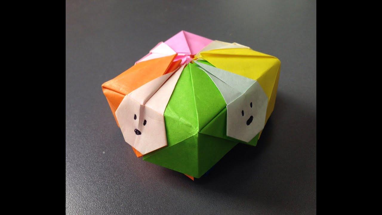 折り紙の 折り紙の箱の作り方 : ユニット折り紙 かわいい ...