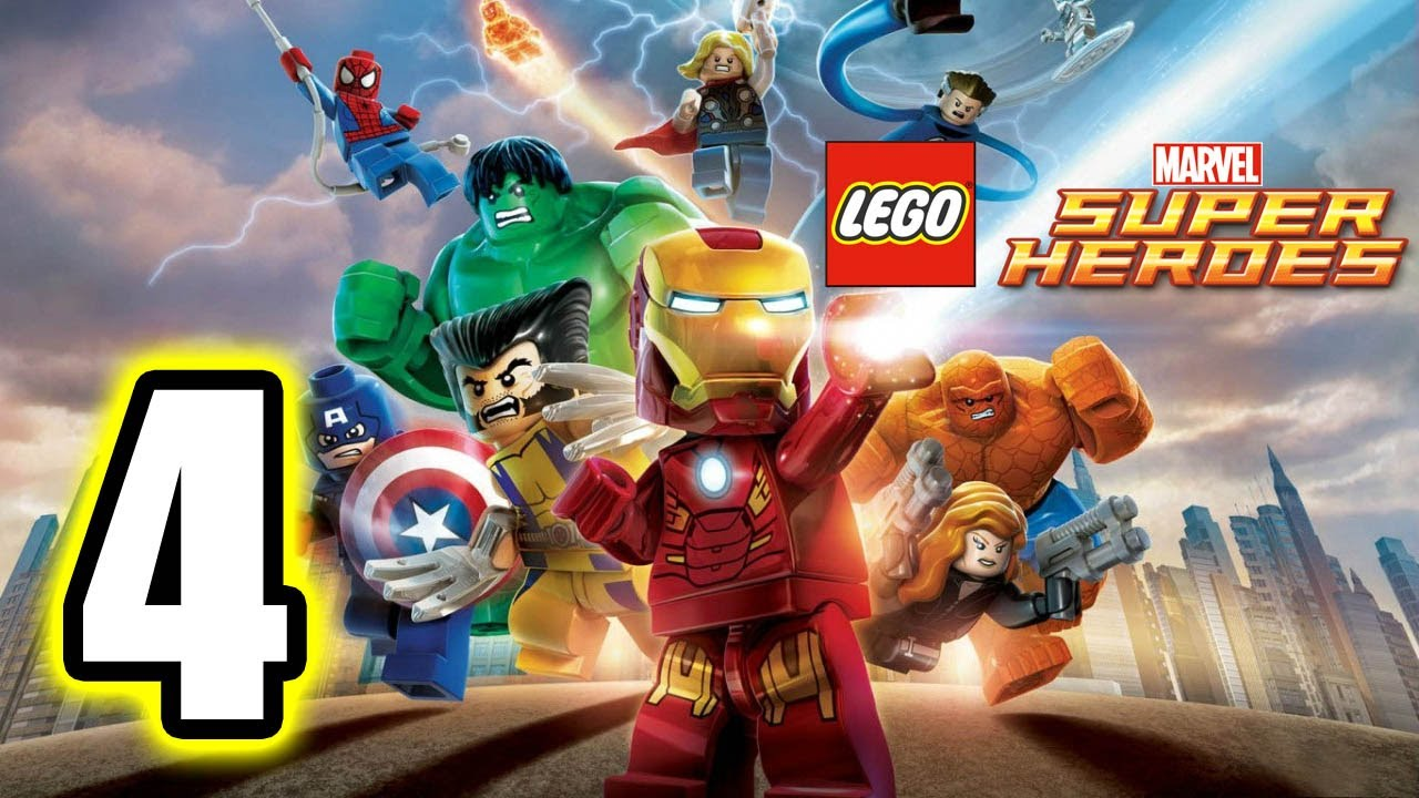Lego Marvel Super Heroes Walkthrough Part 4 Ps3 Lets Play Gameplay