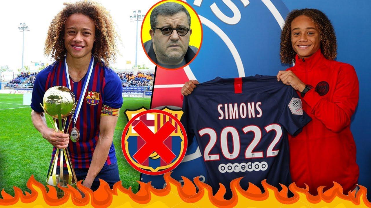 من هو تشافي سيمونز وكيف خطفه باريس سان جيرمان من برشلونة، وهل ينتقم البارسا؟