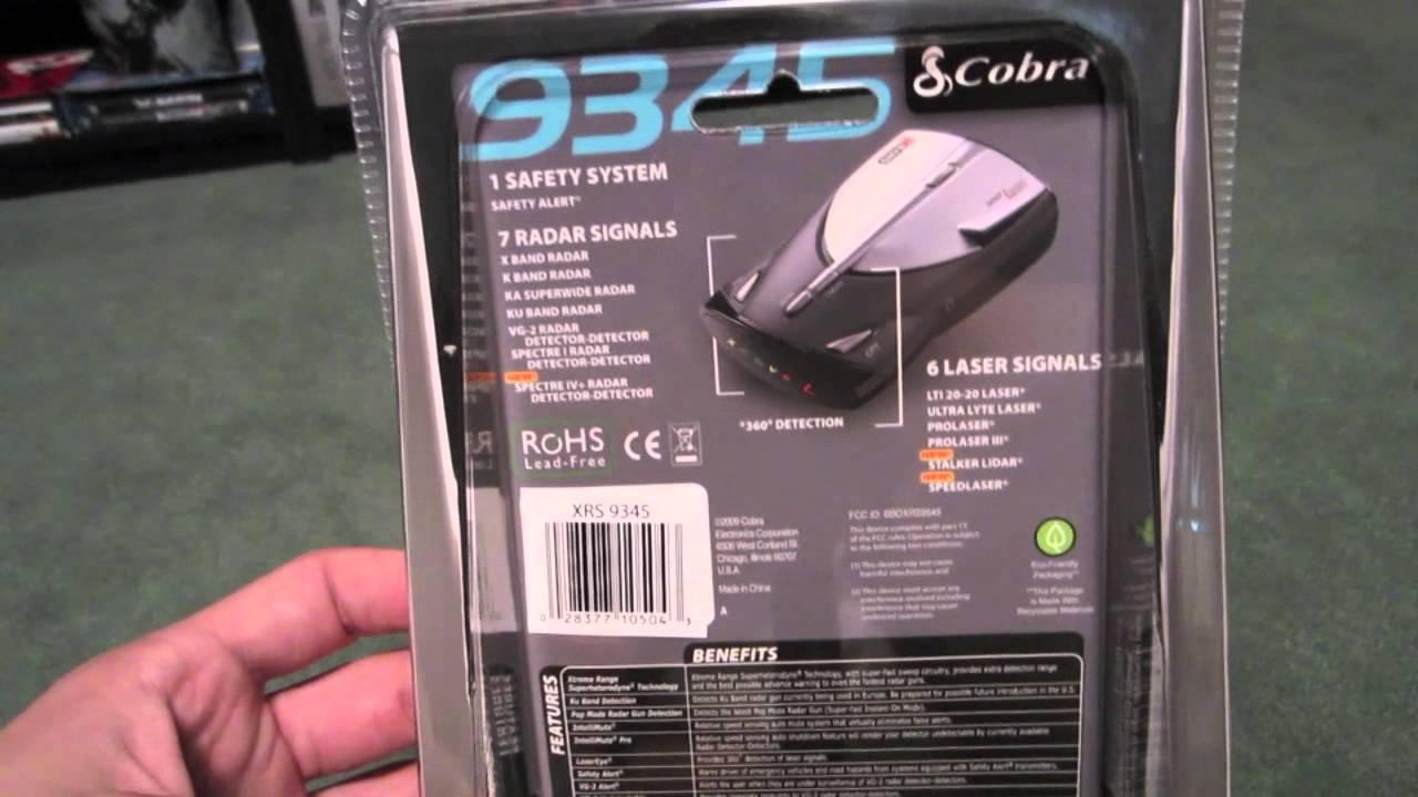 Cobra xrs-9345 radar detector.