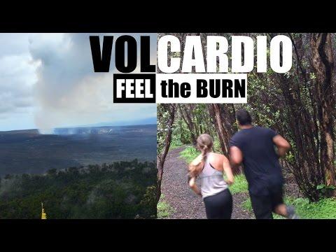 Run with Us thru an Active Volcano - Hawaii Volcano National Park - VLOG