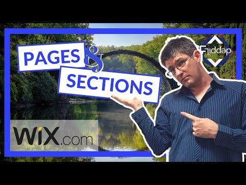 How to add Pages and sections on Wix ADI