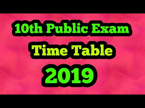 10th public exam time table 2019