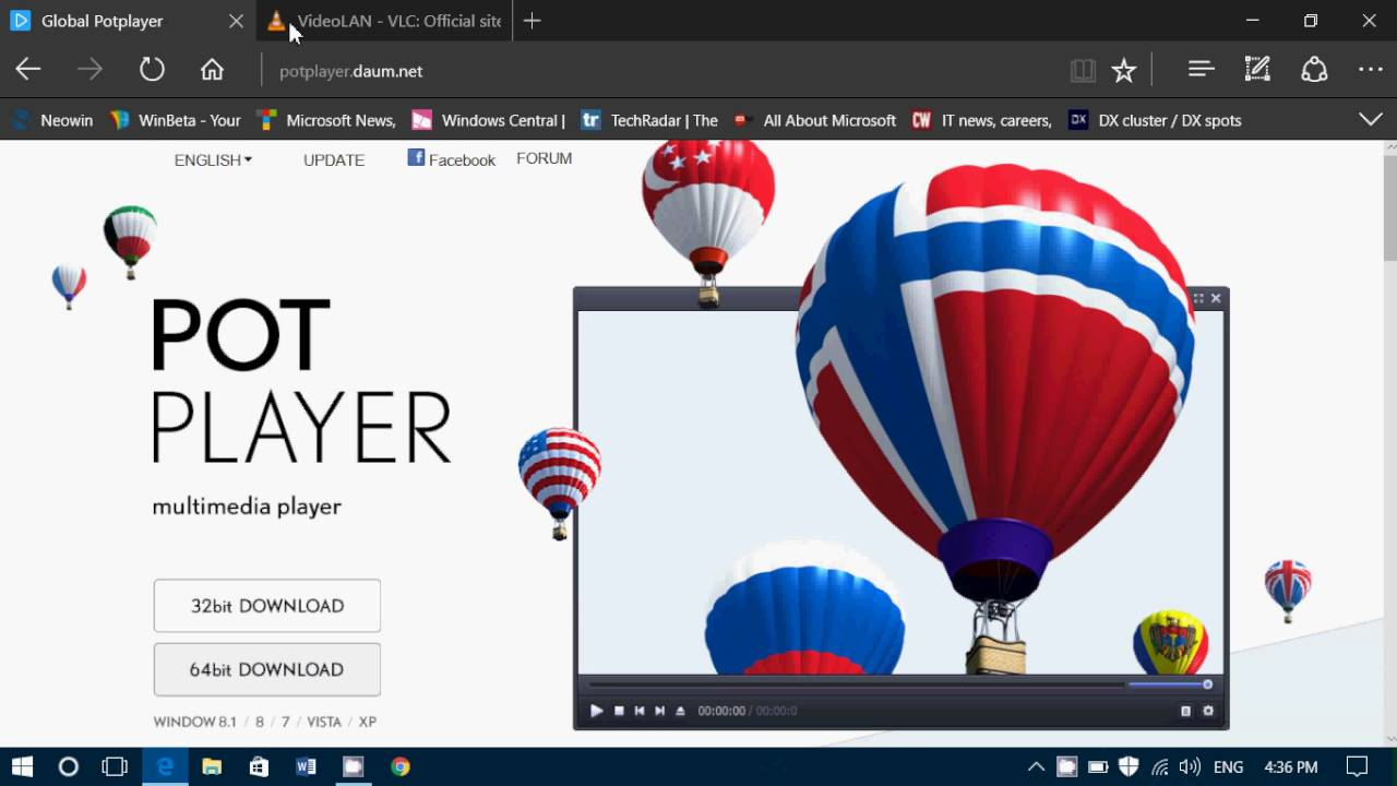 Tips and tricks Multimedia players for Windows Daum Pot Player and VLC  Player