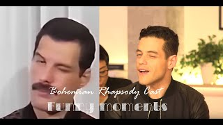 Bohemian Rhapsody cast Funny Moments (Rami Malek literally is Freddie Mercury)