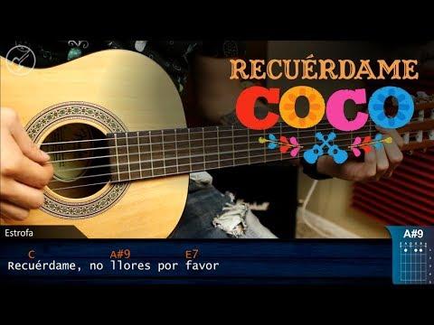 Como tocar RECUÉRDAME de COCO en Guitarra Acustica | Tutorial COMPLETO | Christianvib