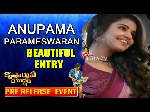 Anupama Parameswaran Beautiful Entry @ Krishnarjuna Yuddham Pre Release Event    Nani