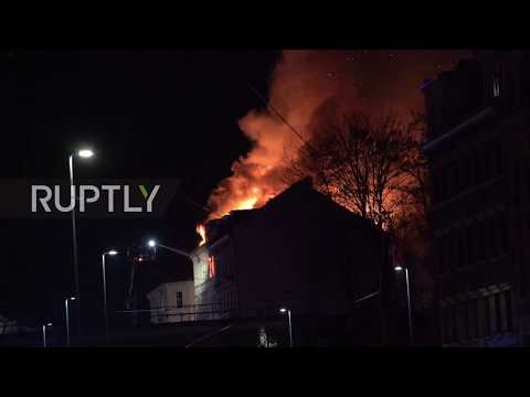 Germany: 16 injured as people jump from burning building in Leipzig