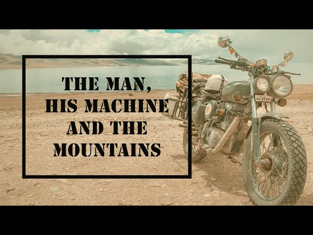 The Man, His Machine and The Mountains | Ladakh Travel Video | Drone Shots | Bike Hike Backpacking