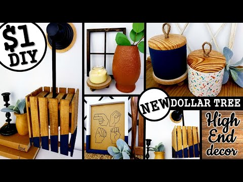 $1 HIGH END DOLLAR TREE DIY's | SCANDINAVIAN INSPIRED HOME DECOR IDEAS