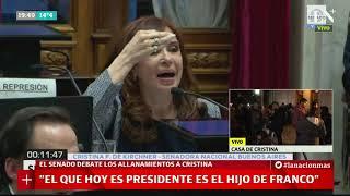 Discurso completo de Cristina Kirchner sobre los allanamientos