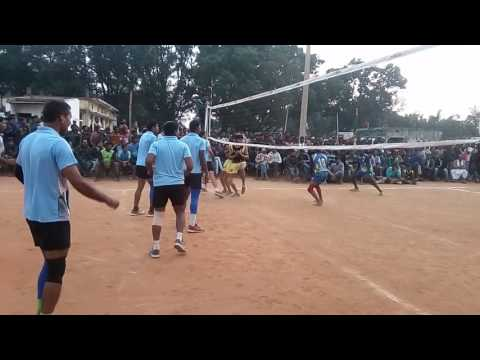 Enter district volleyball champa police v/s ambikapur surguja
