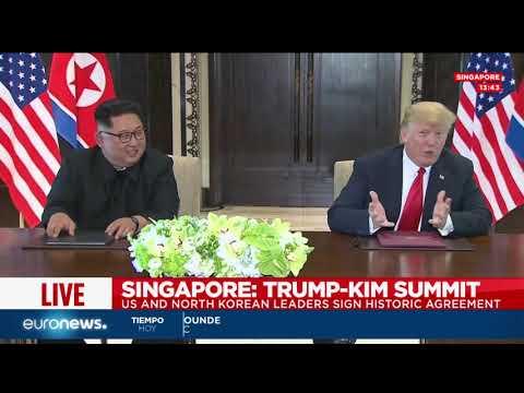 Cumbre histórica entre Donald Trump y Kim Jong-un en Singapur