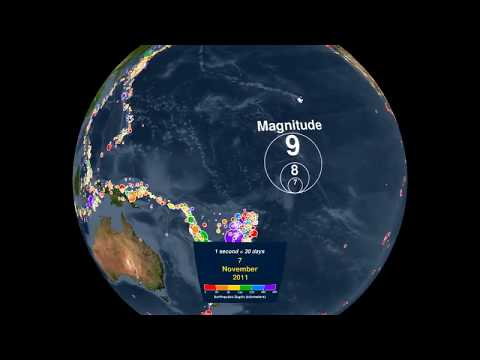 Global Earthquake Animation 2001-2015