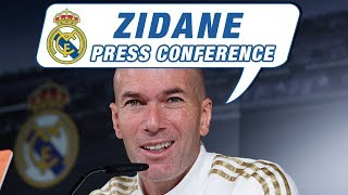Zidane's press conference ahead of Athletic