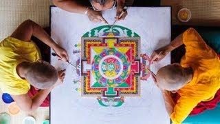 Sand Mandala Time Lapse [Extended Version] - Asheville, NC - Urban Dharma - 2012