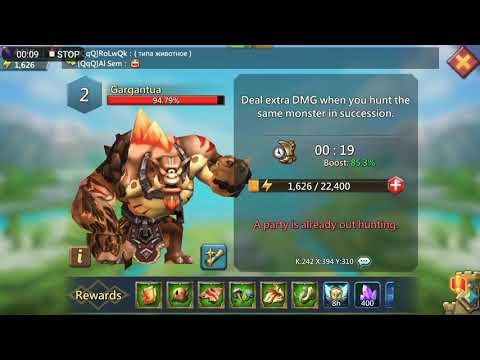 Lords Mobile: Defeating Level 2 Gargantua F2p Heroes