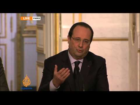 French president condemns violence in Ukraine