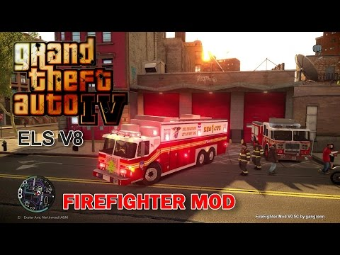 GTA IV - FDNY/ FDLC - Eighth day with the fire department! (Rescue 1)