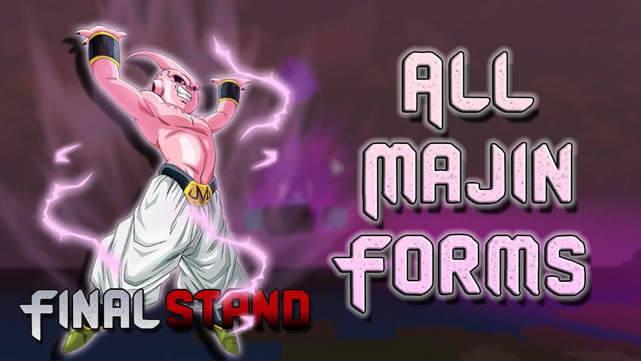all majin forms future update and stat increases dragon ball z
