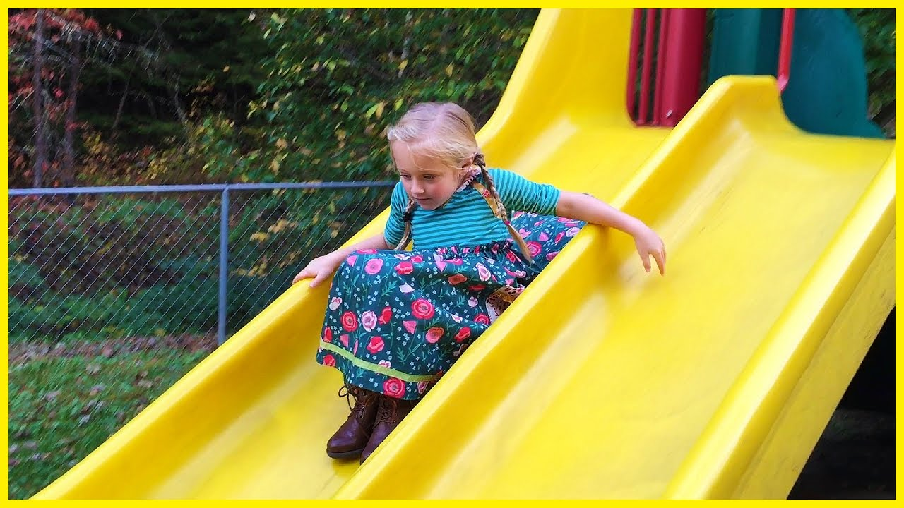 97918840b Playing at the Playground Park for Kids on Slides